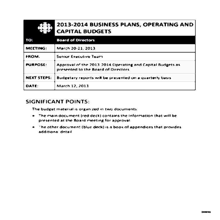 Business Operating Budget Template