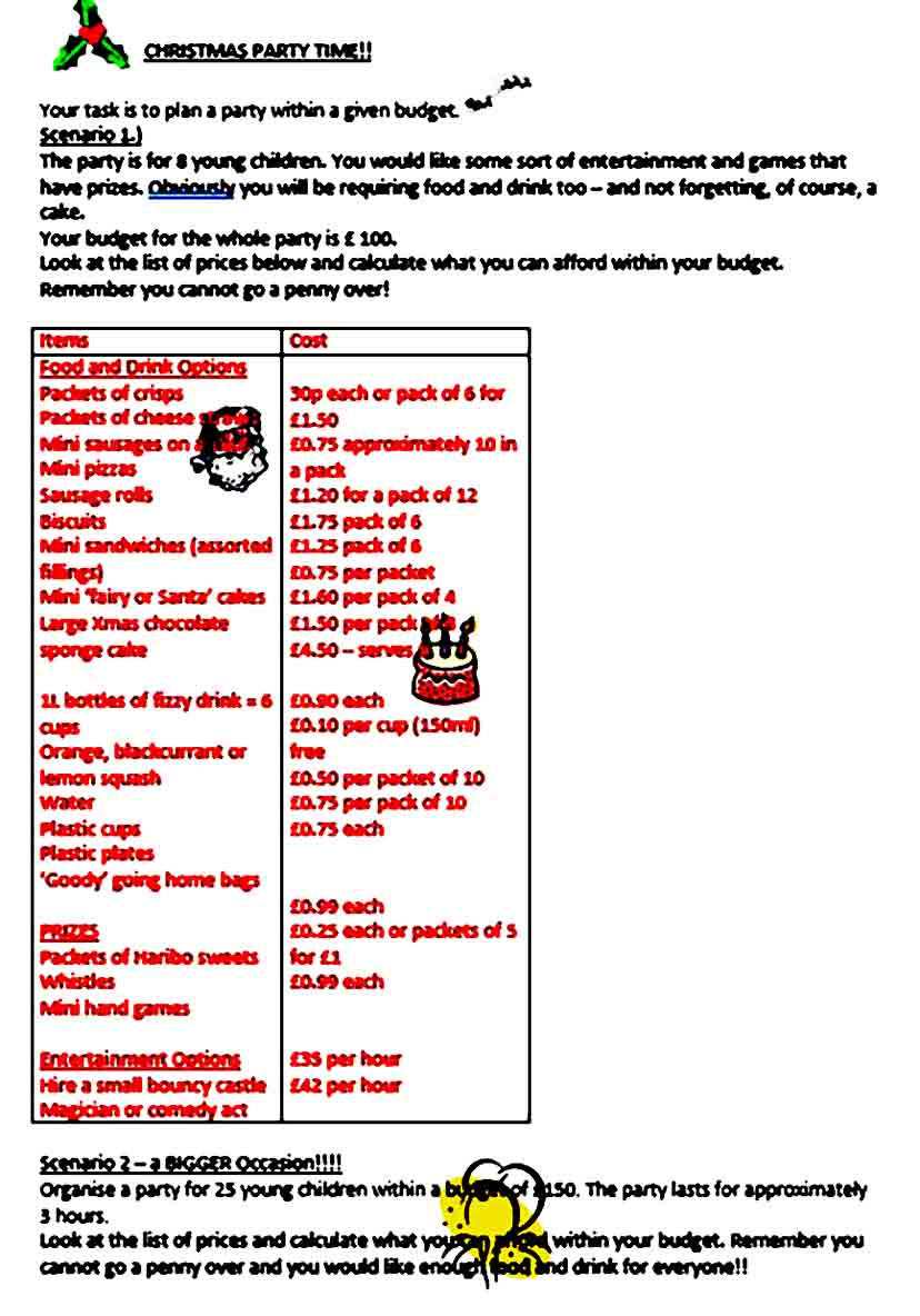 Christmas Party Budget Template