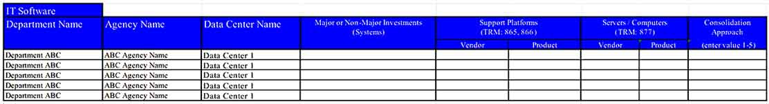 Data Center IT Inventory Excel Download Templates Sample