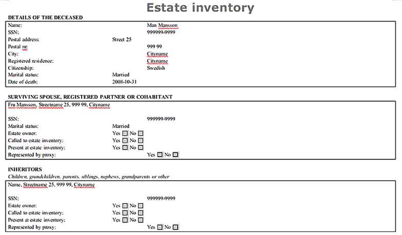Document Worksheet For Free Estate Inventory Template