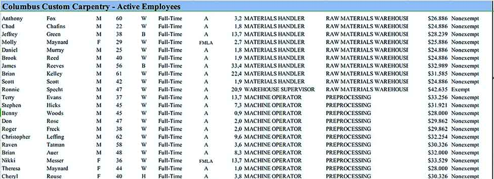 Employee Details Inventory Databse Example Download Templates Sample 1