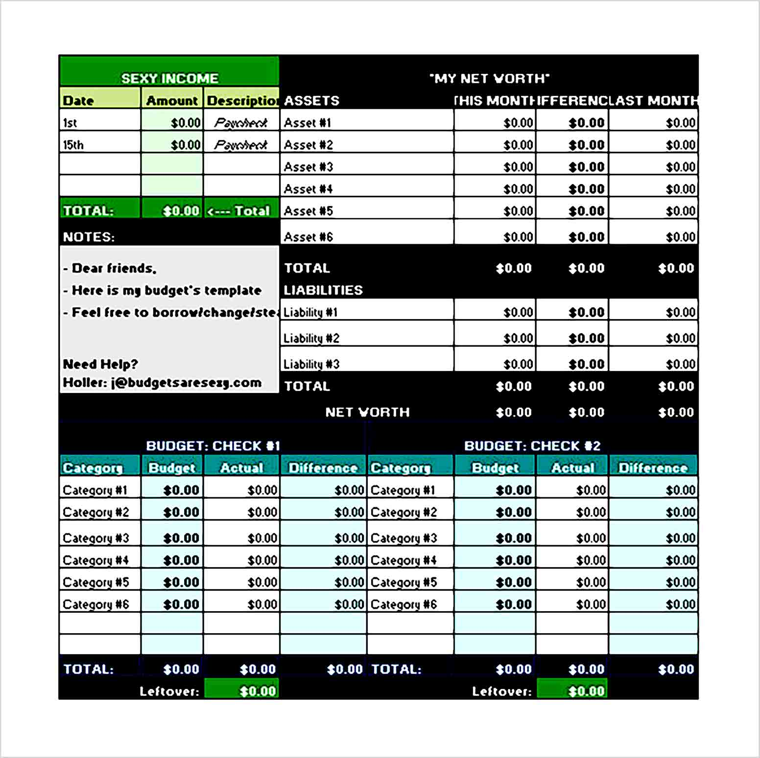 Financial Excel Budget Template Free Download