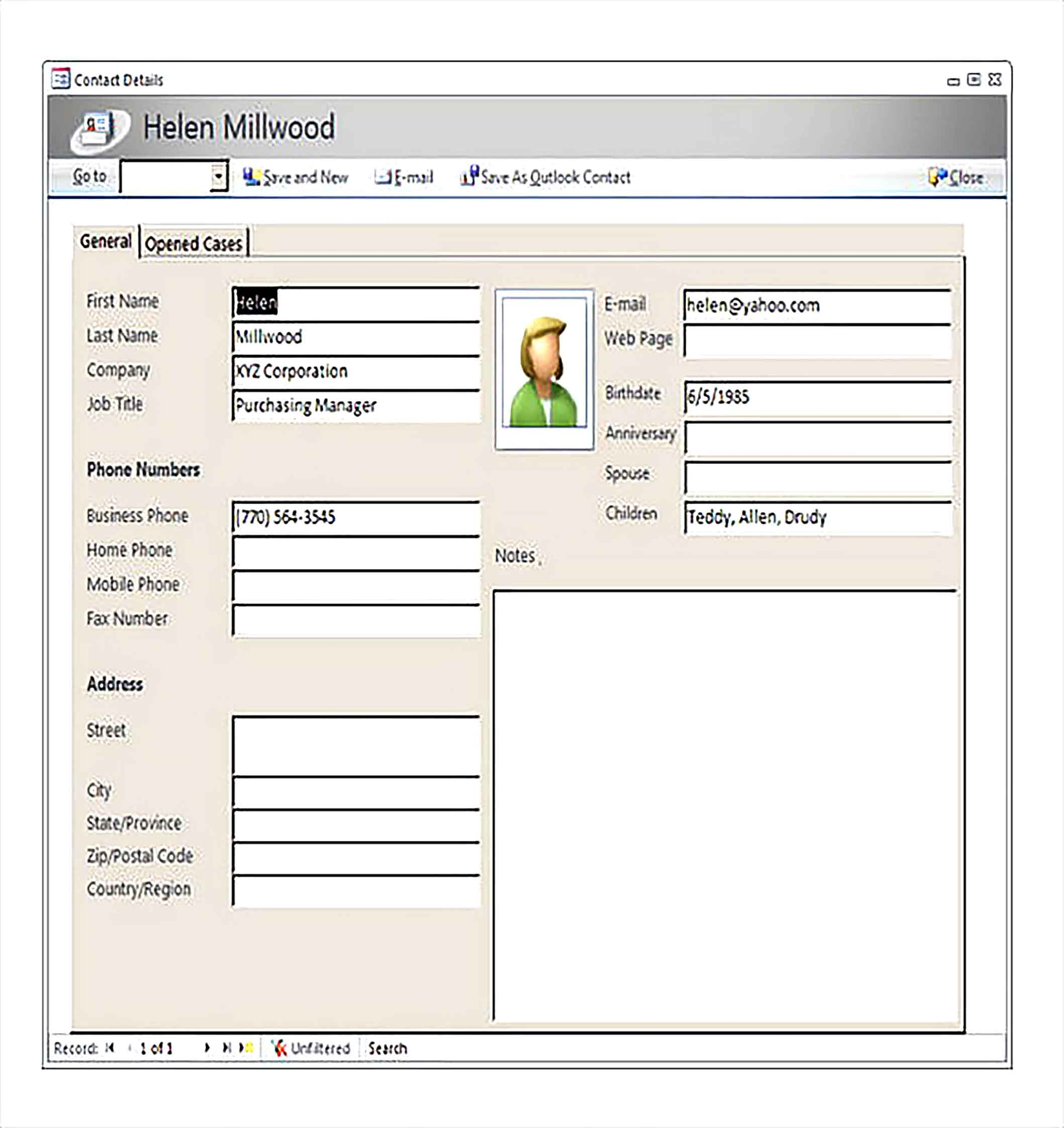 Free Customer Contact Details Access Inventory Template