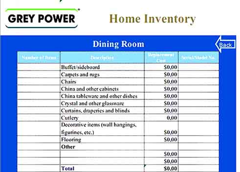Home Inventory Calculator Template Download