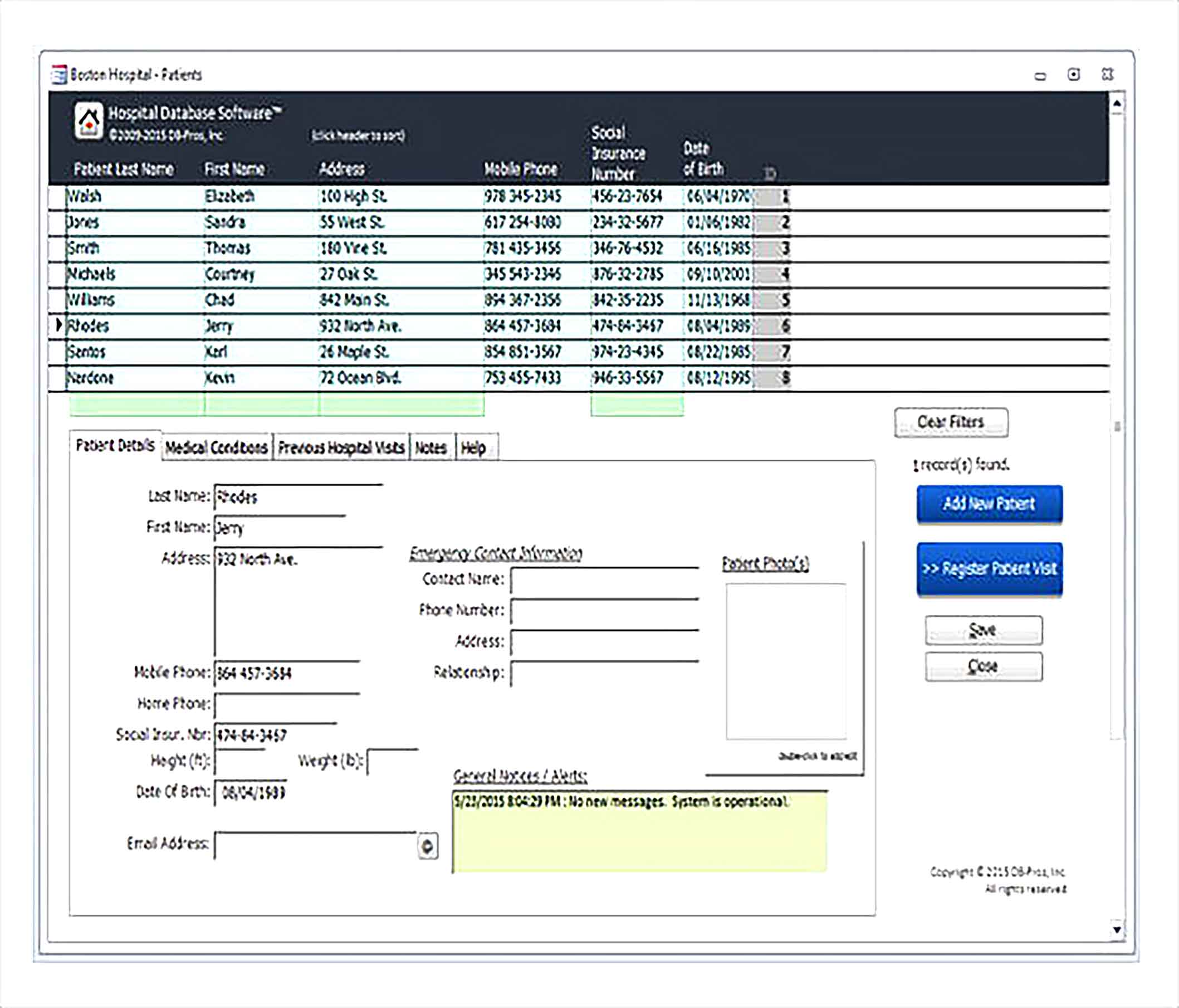 Hospital Database Access Inventory Template Download