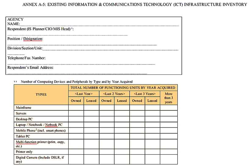 Information Technology Inventory Document Templates Sample