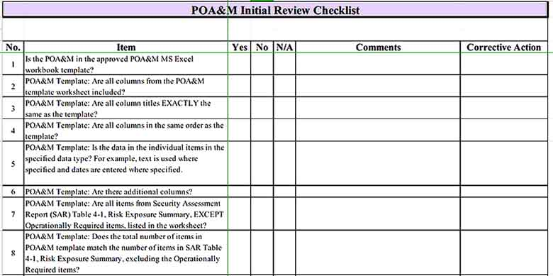 Initial Review Inventory Checklist Sample Templates Sample