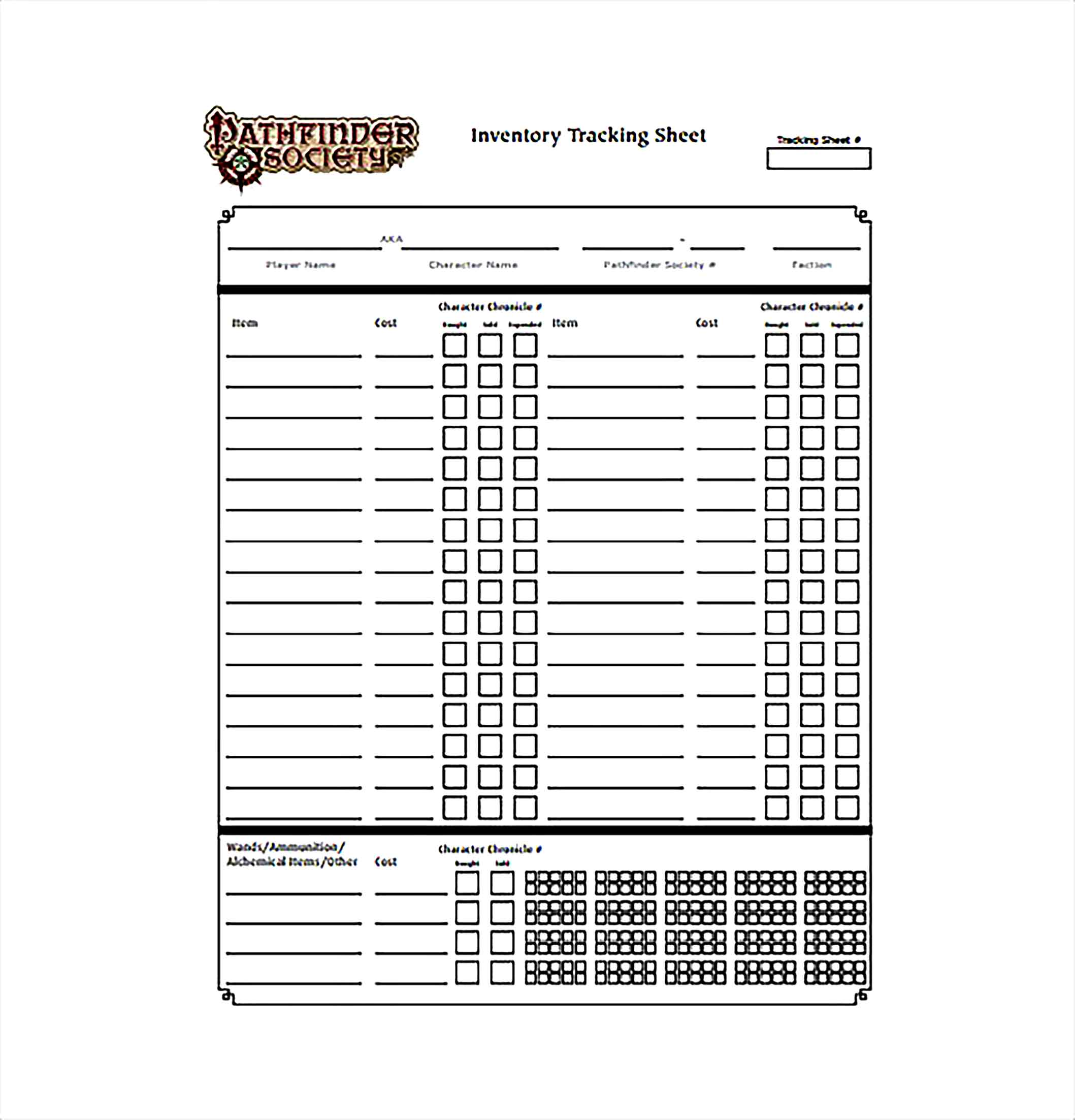 Inventory Tracking Spreadsheet PDF Template Free Download 1