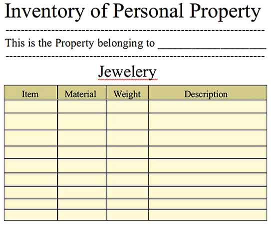 Jewelery Inventory Spreadsheet Download Templates Sample