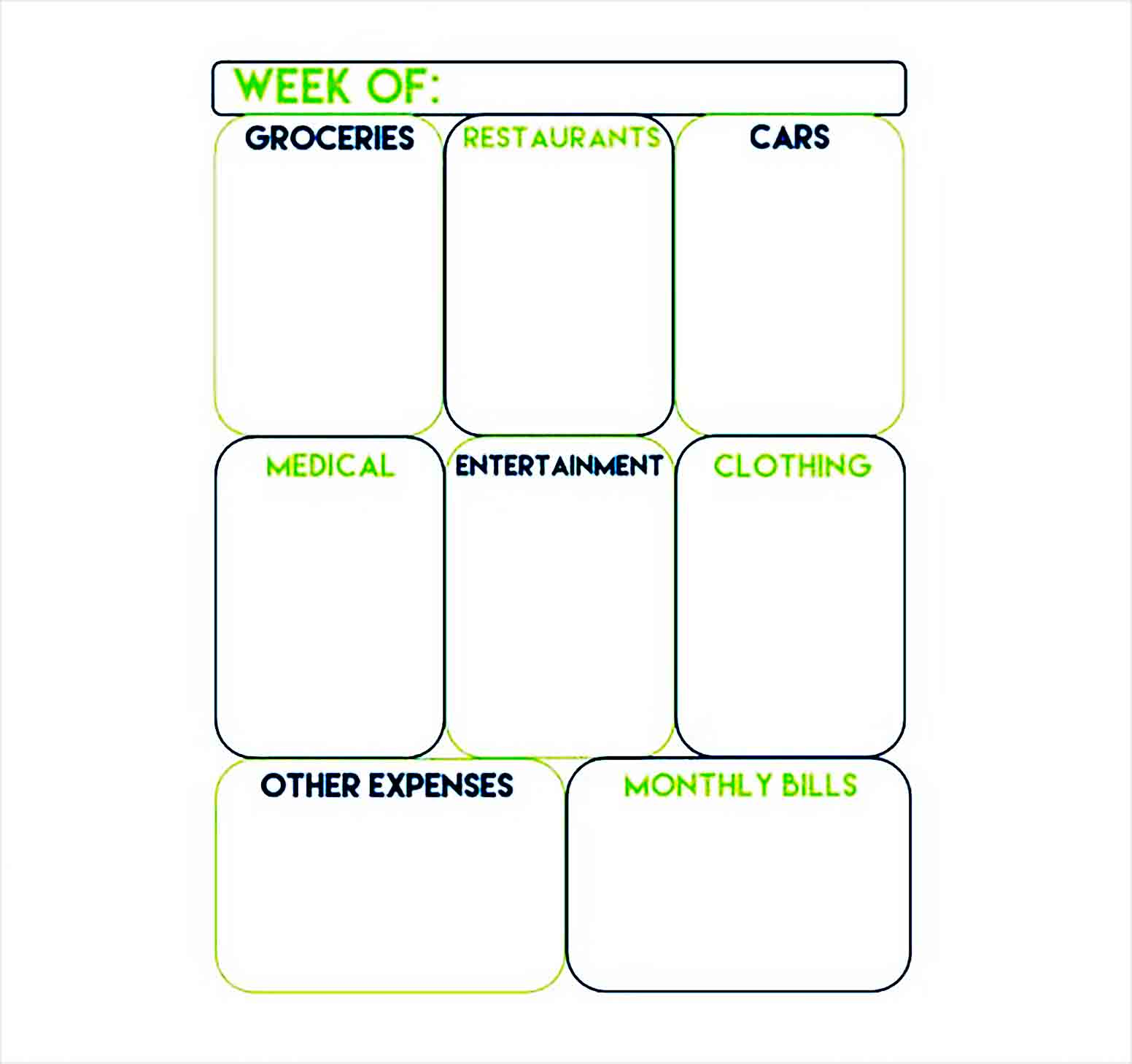 Printable Weekly Expense Tracker