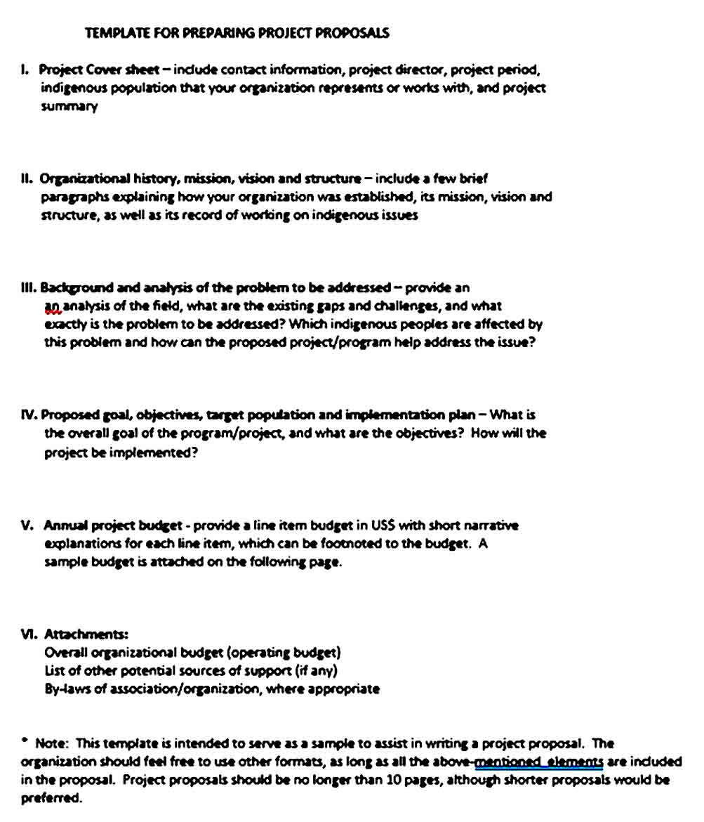 Project Preparing Budget Proposal Template 1
