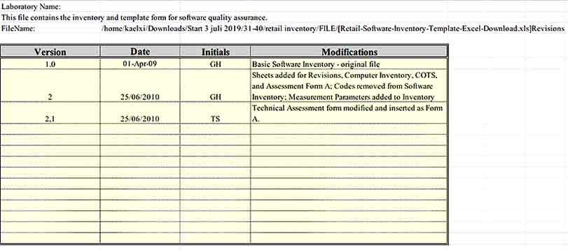 Retail Software Inventory Template Excel Download 1
