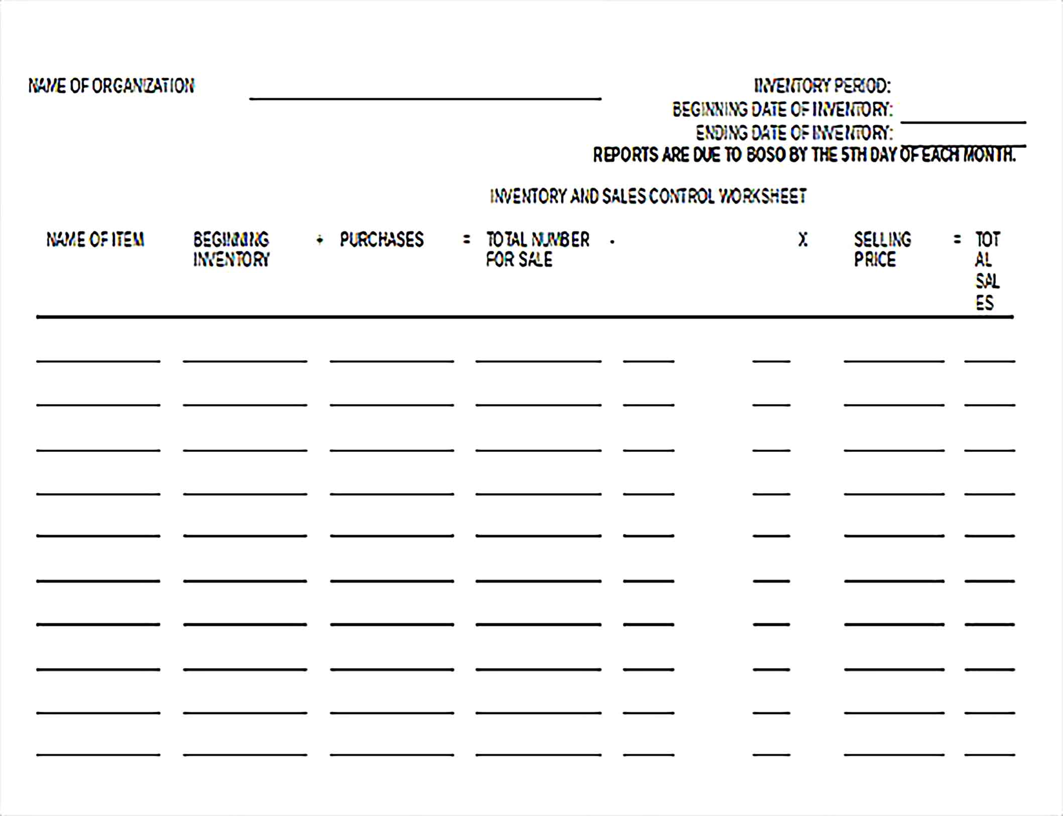Simple Inventory Spreadsheet Document Download