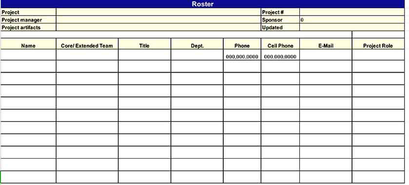Software Inventory Project s Download Templates Sample