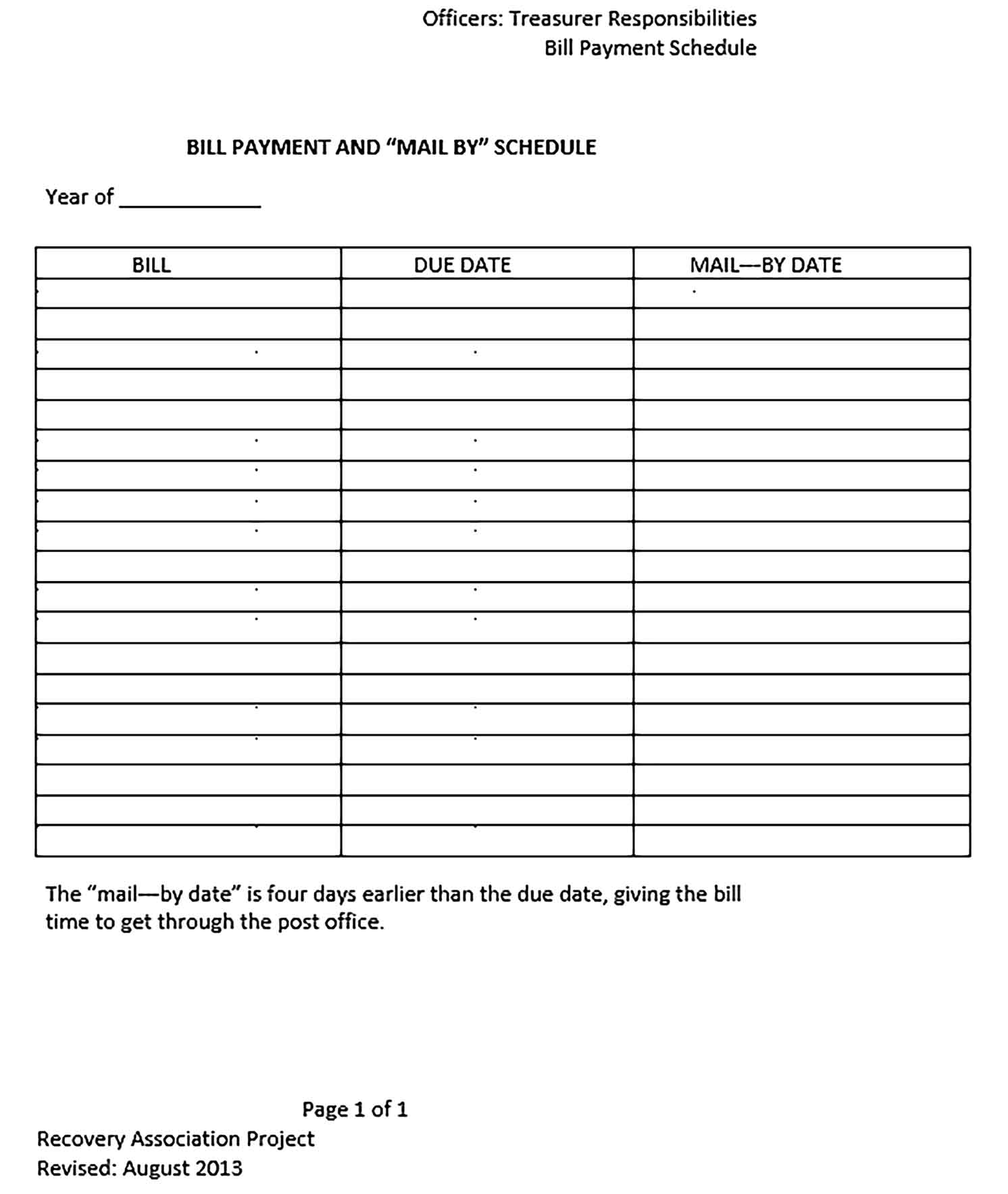 Template Bill Payment Sample 001