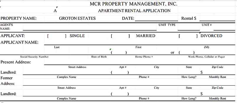 Tenant Agreement Form in Excel Format 1 Templates Sample