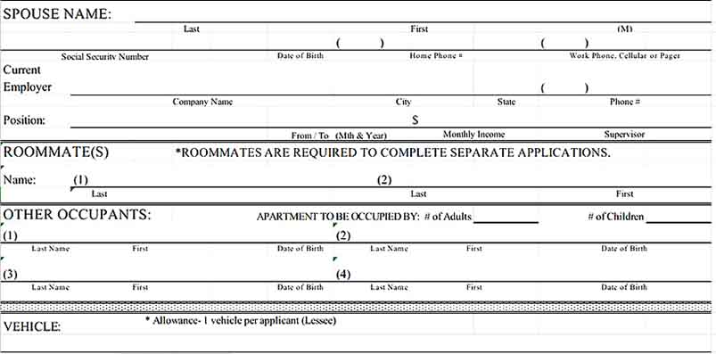 Tenant Agreement Form in Excel Format 3 Templates Sample