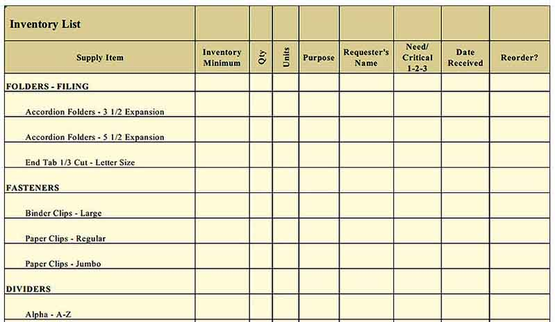 blank office supply request form Templates Sample
