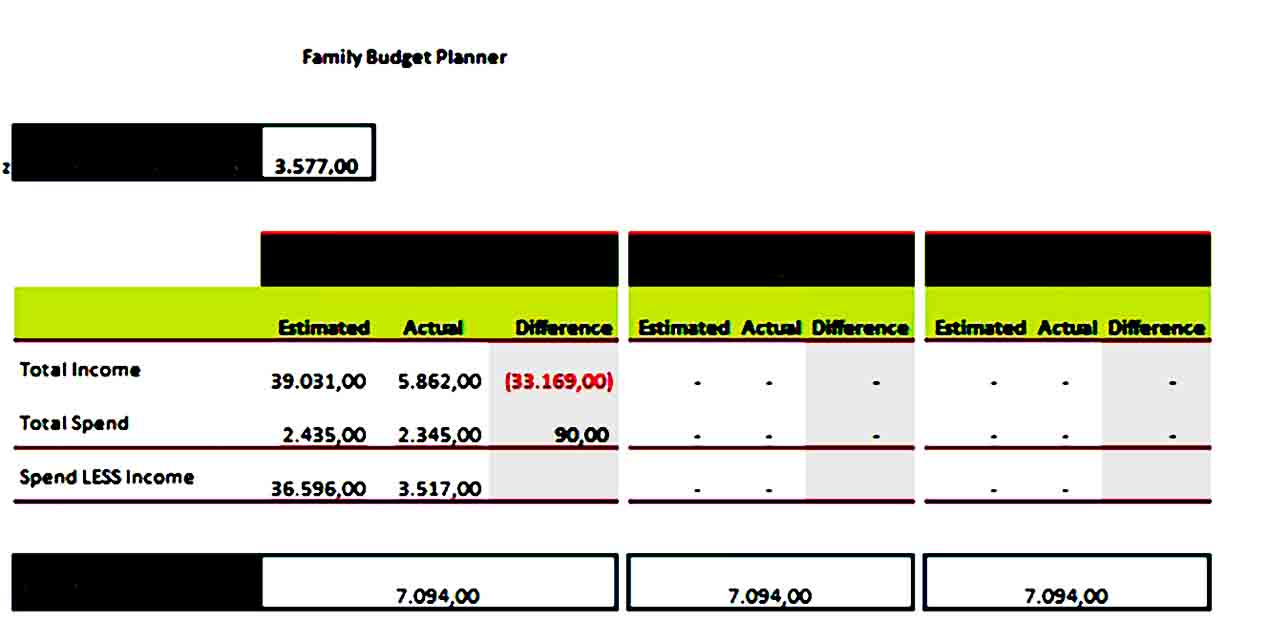 free download family budget plan template