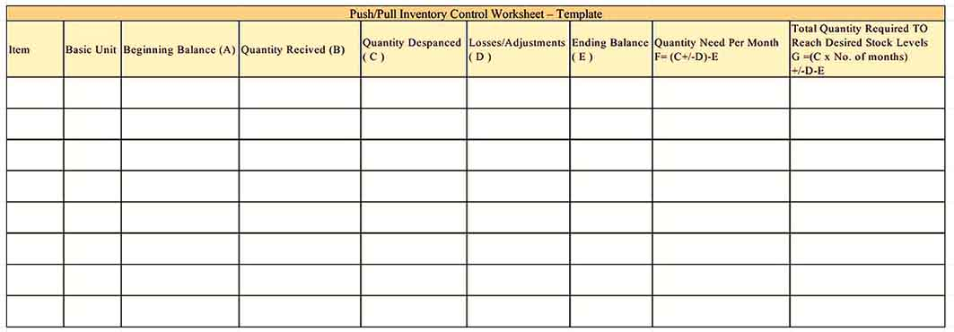 sample stock inventory Templates Sample