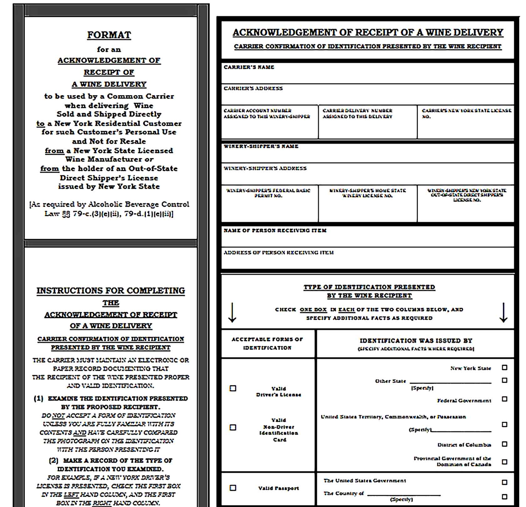 Sample Delivery Receipt Templates
