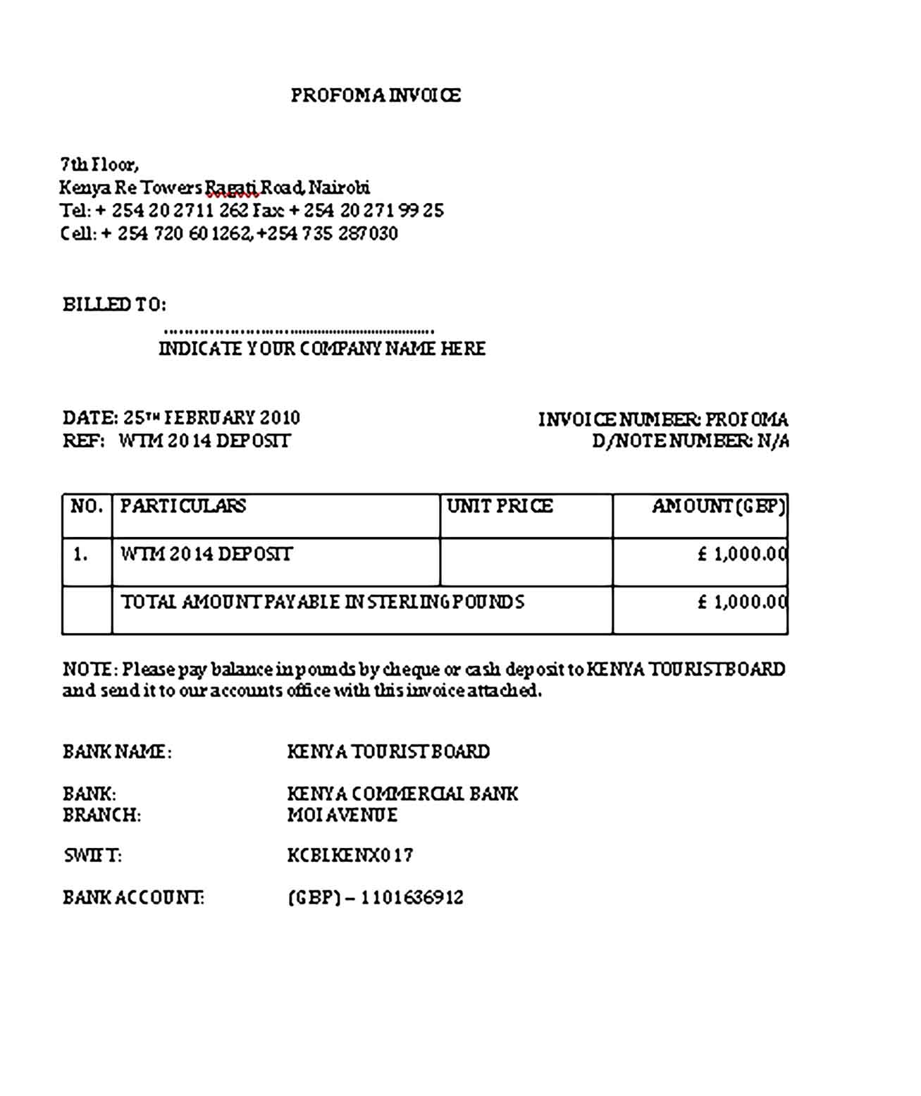 Sample Templates Accounting Invoice