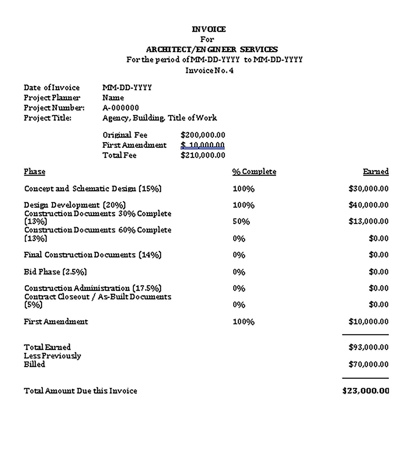 Sample Templates Construction Invoice 1 1