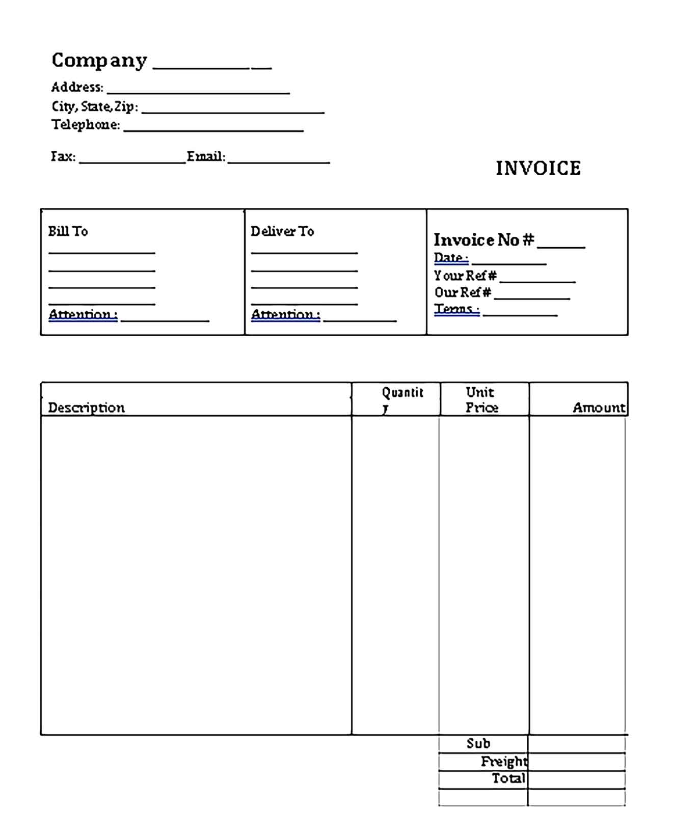 Sample Templates Simple Bakery Invoice