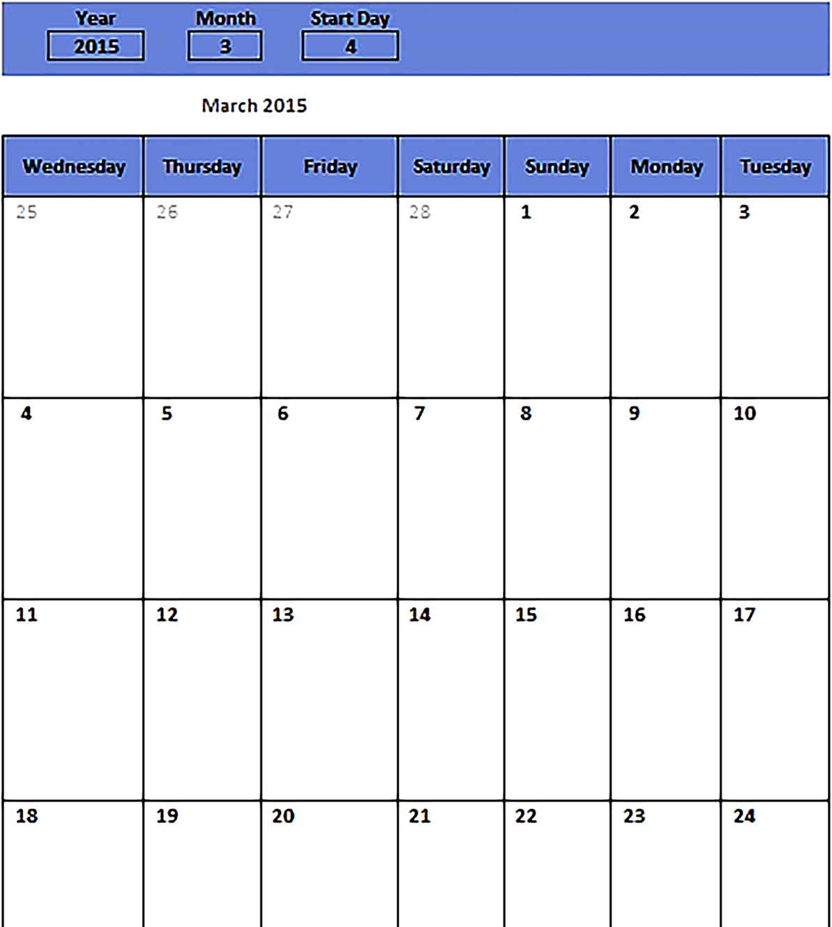 Template monthly schedule for free Sample