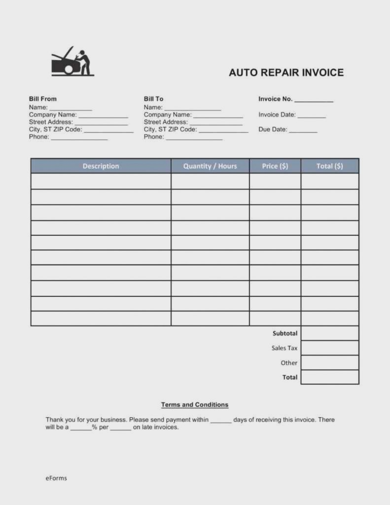 quiz how much do you know about auto repair invoice form motor vehicle template automotive templates ideas 791x1024