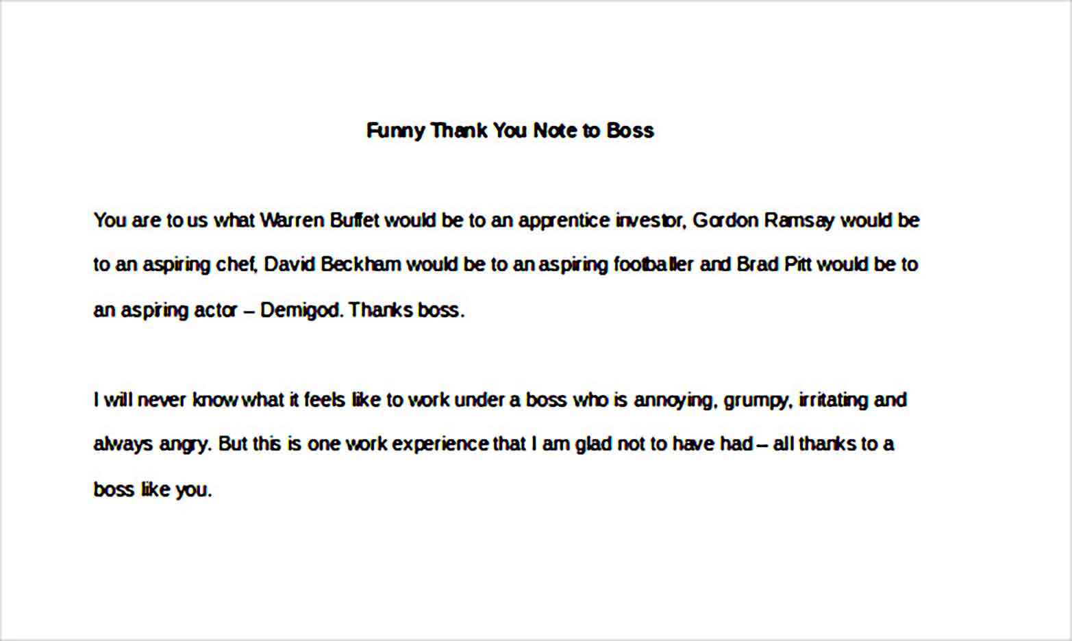 Funny Thank You Note to Boss1