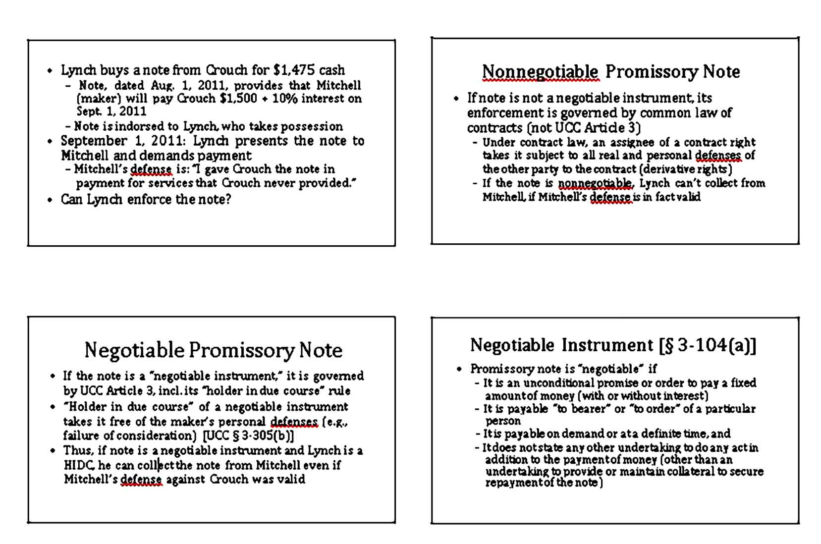 Negotiable Promissory Note Negotiable Instrument