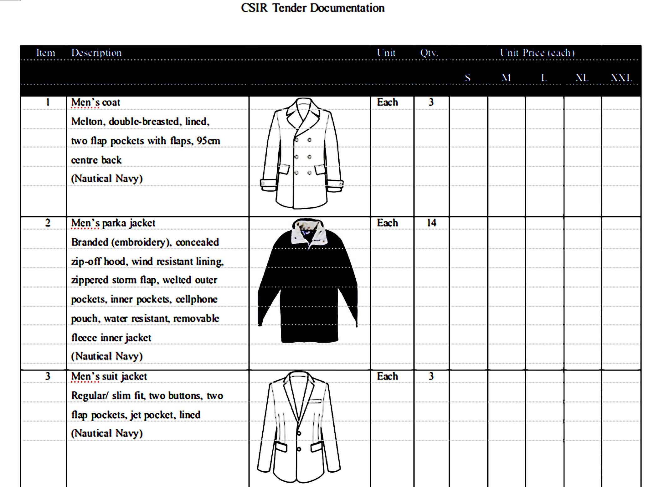 Printable Quotation for Clothing 2