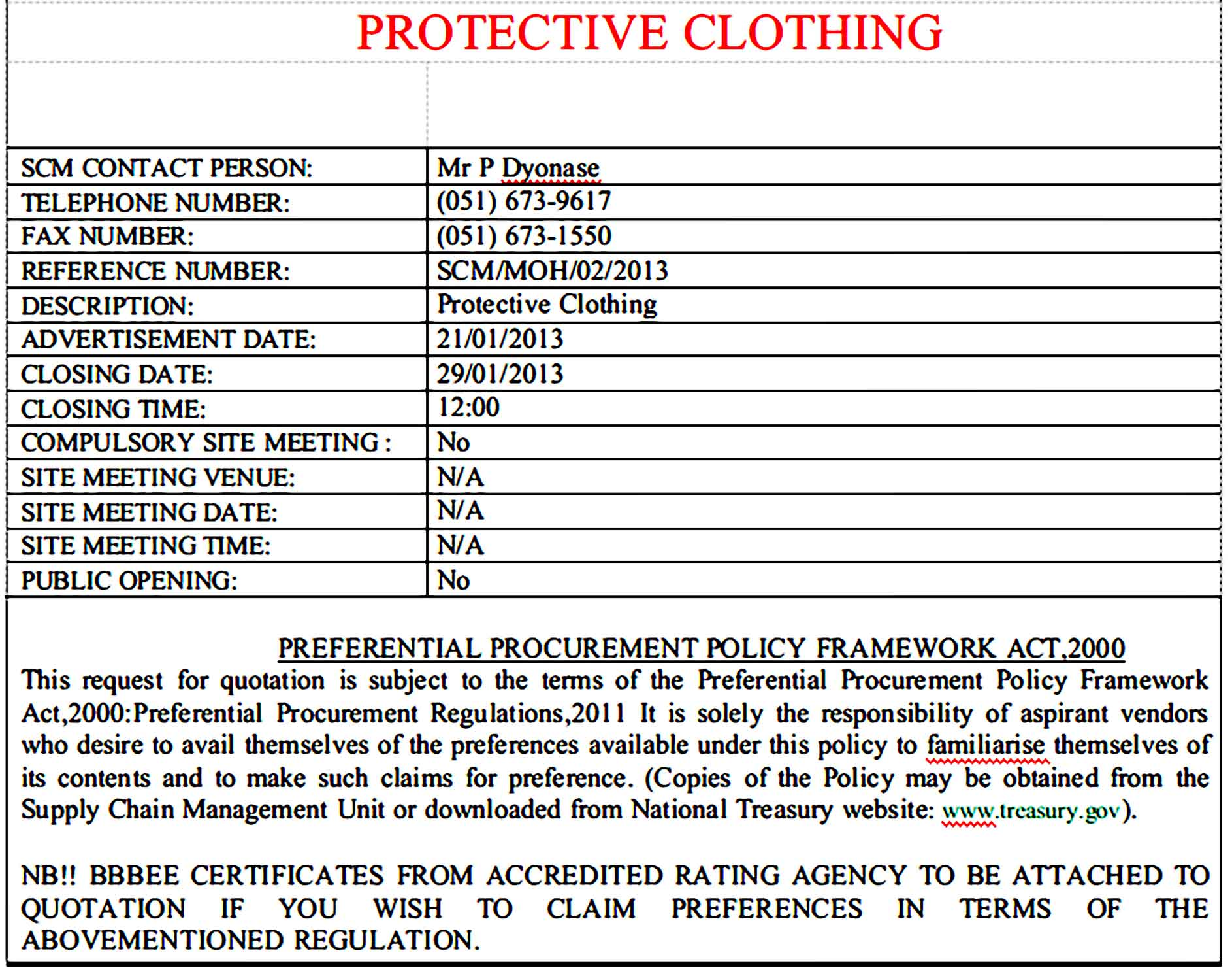 Professional Quotation for Clothing 1