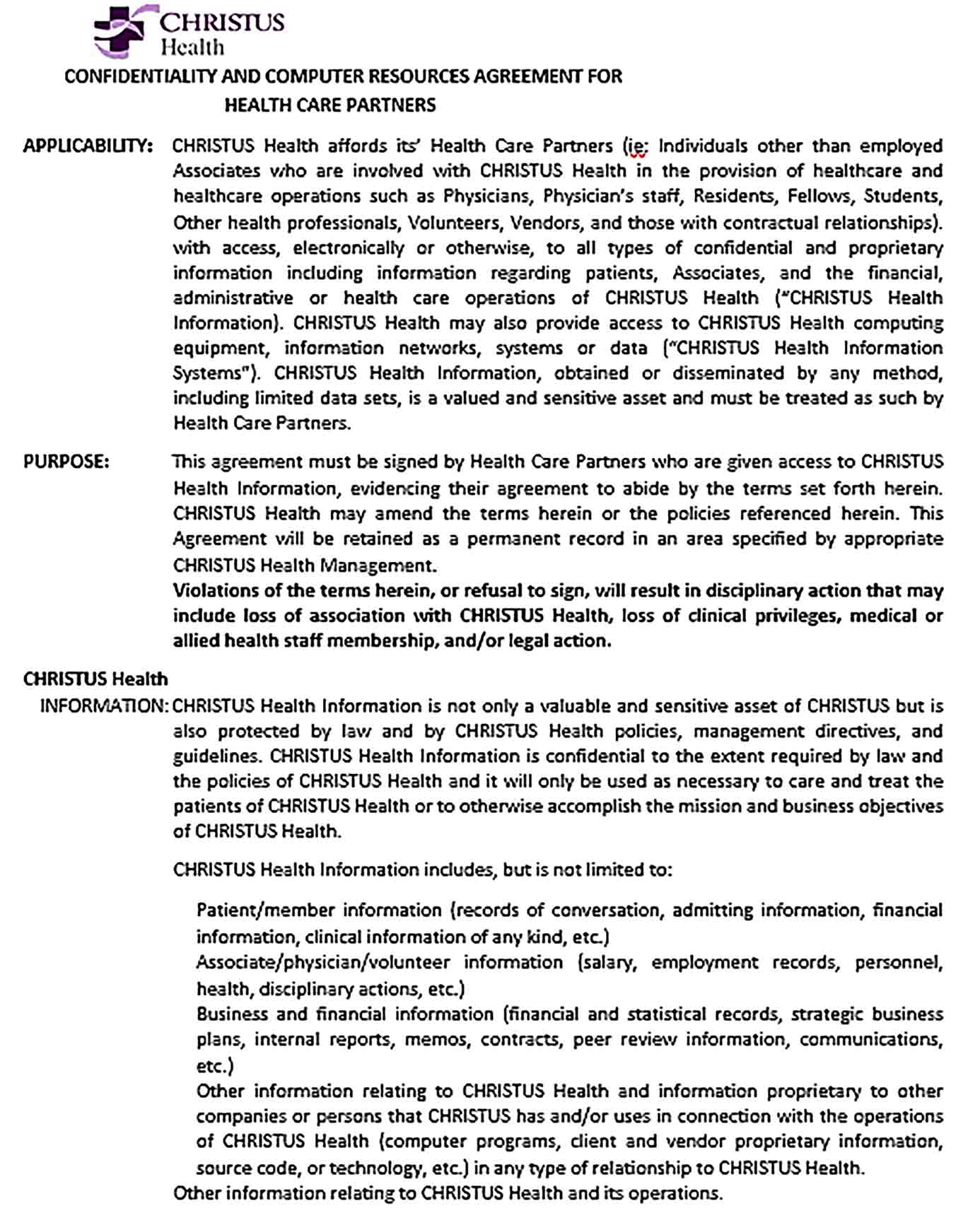 Sample Confidentiality and Computer Resources Agreement