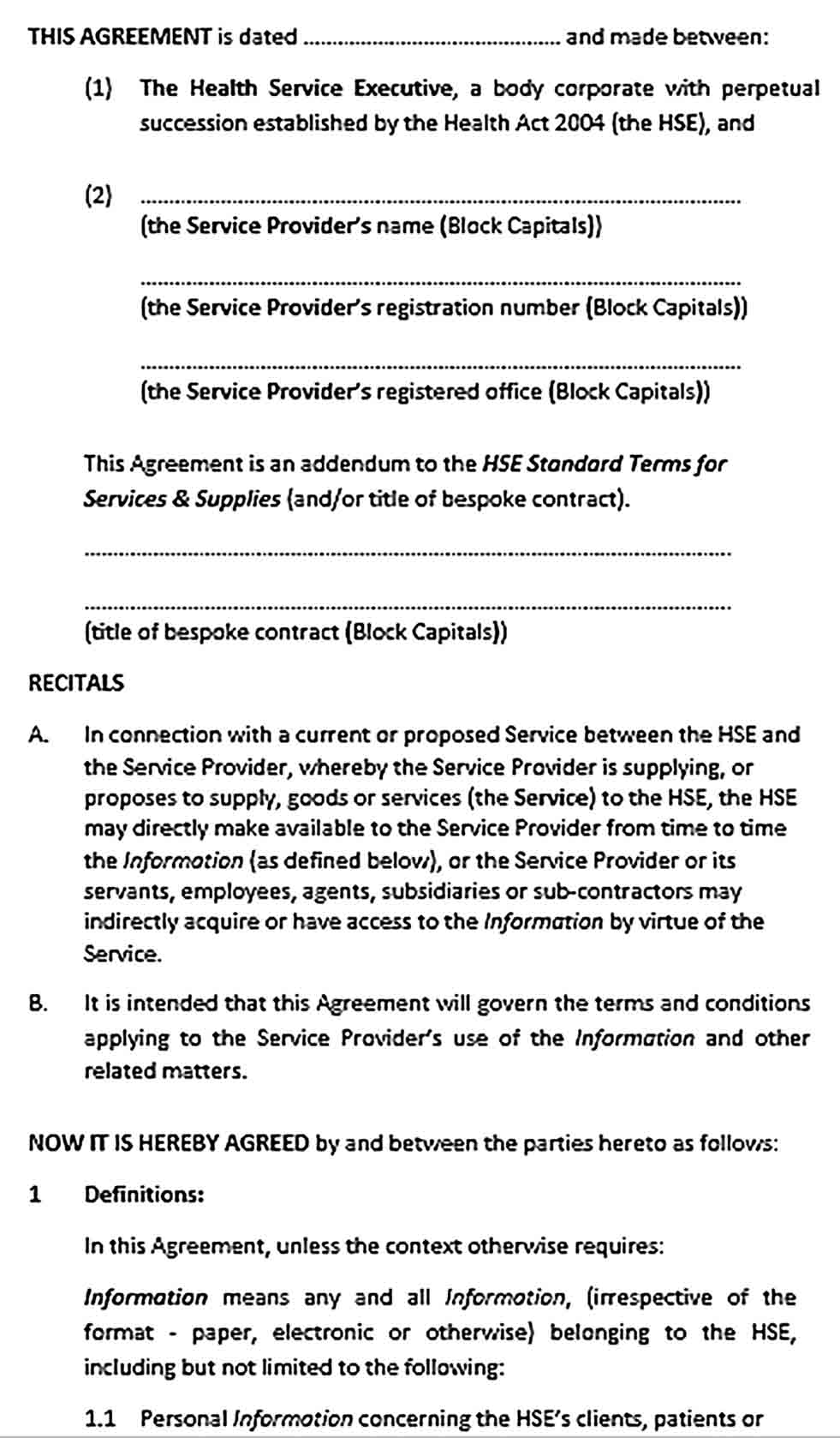 Sample Contractor Confidentiality Agreement for Data Service Provider