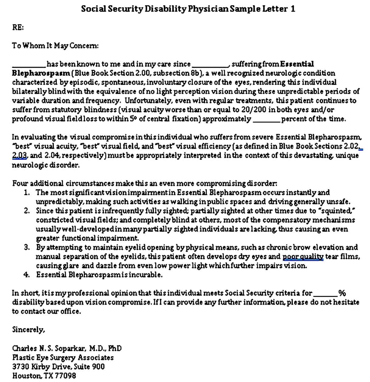 Sample Doc Note for Disability Free Download in Word