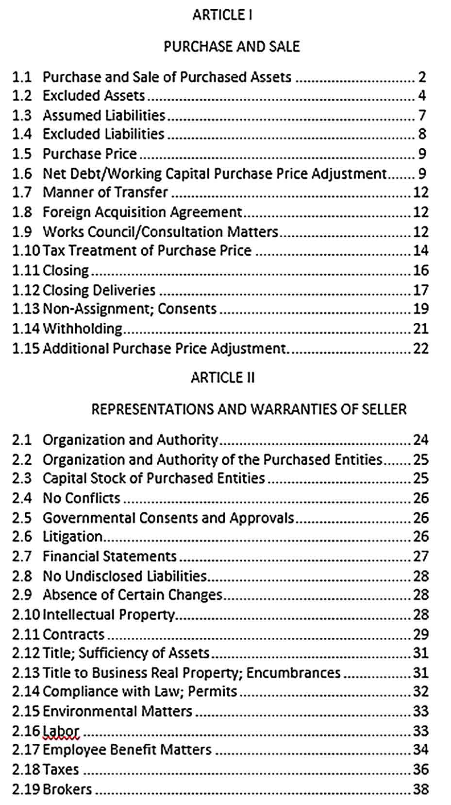 Sample Equity and Asset Purchase Agreement Executed
