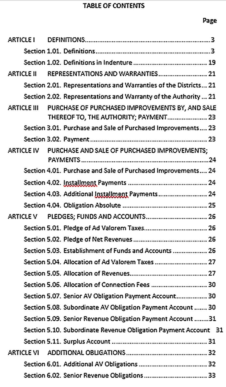 Sample Joint Acquisition Agreement