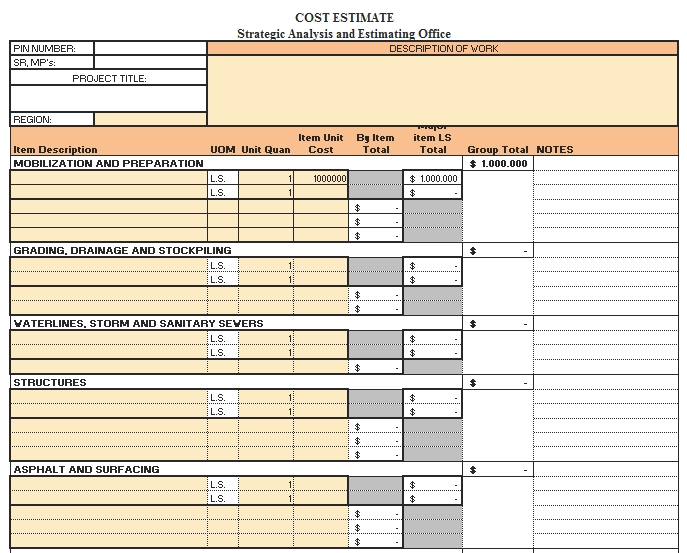 Templates An Excel for Change Order Summery Sheet 2 Example
