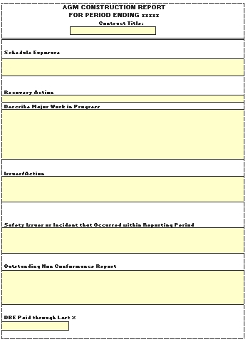 Templates An Excel for Construction Order Report 2 Example