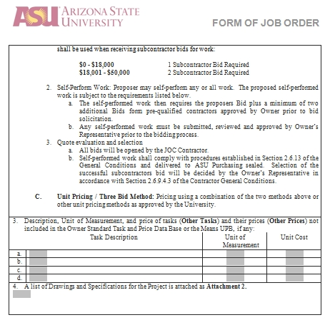 Templates Construction Form of Job Order 2 Example