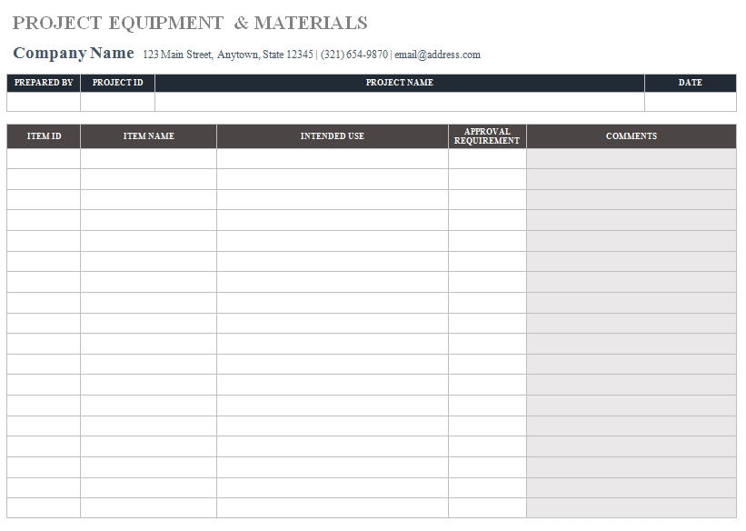 Templates Construction Submittal Order 3 Example