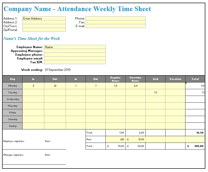 Templates Construction Weekly Report Excel Example