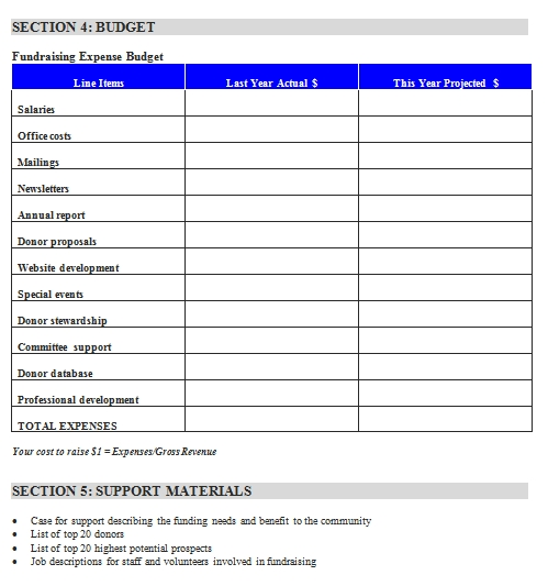 Templates Fundraising Order Document 5 Example