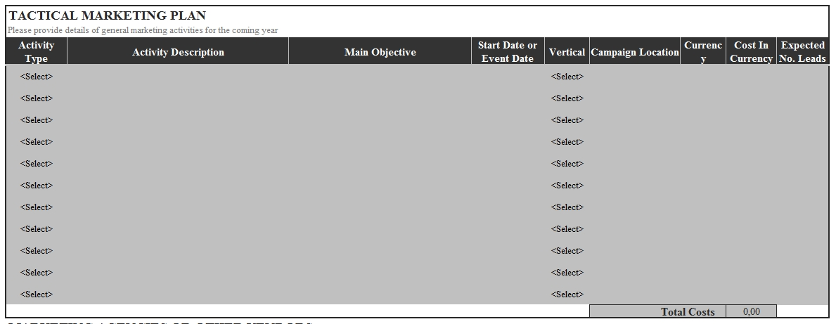 Templates Marketing Plan Insertion Order Excel Format 3 Example