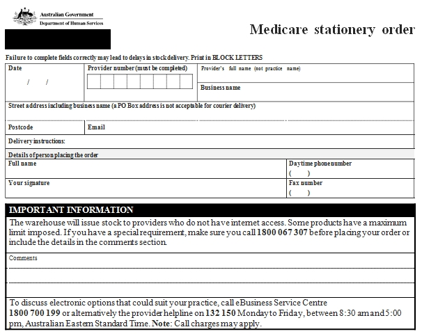 Templates Medicare Stationery 1 Example