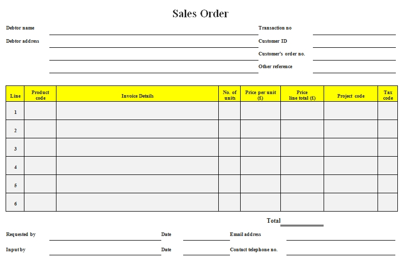 Templates Sales Order in Doc Example