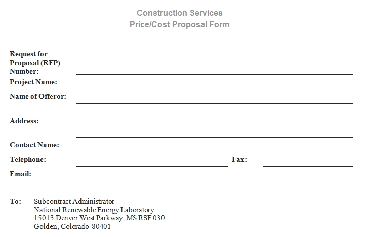 Templates Simple Construction Proposal Order 1 Example