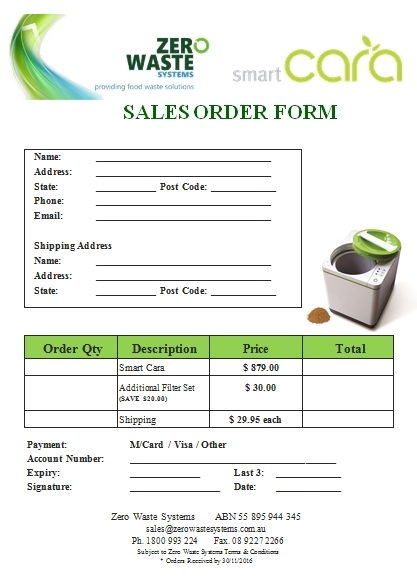 Templates Simple Sales Order Example